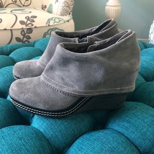 Dr. Scholls - Boots Wedge Gray - Size 8
